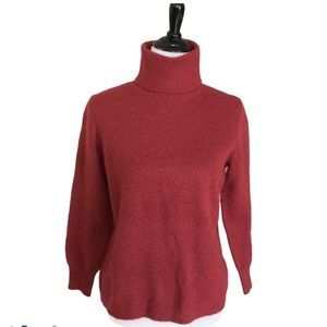 Joie Heather Rust Color Turtleneck Sweater New With Tags